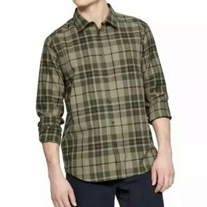 Under Armour UA Tradesman Flannel Shirt Green